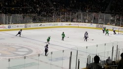 Pee-wee game between periods at the Dunkin Donuts Center 4/2/2016 (Photo by Glenn McGuire)